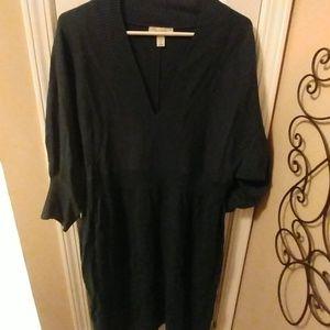 Hunter green sweater dress